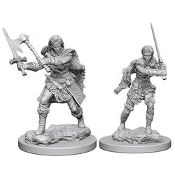 DUNGEONS AND DRAGONS: NOLZUR'S MARVELOUS UNPAINTED MINIATURES -W1-FEMALE HUMAN BARBARIAN | Phoenix Comics and Games