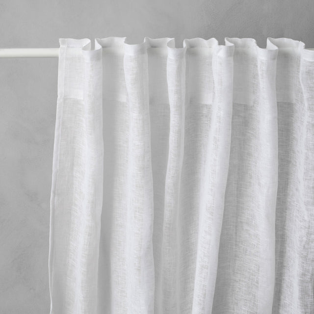 White Linen Curtain Loops