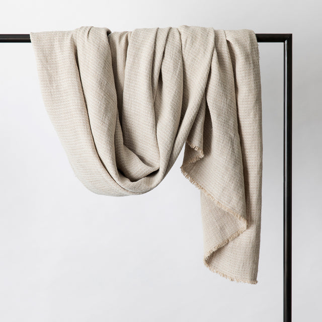 Mira Linen Throw in Manu Sand