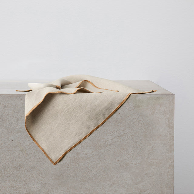 Cara Edged Napkin in Natural