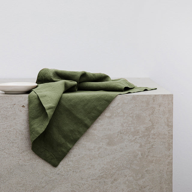 Linen Table Napkin in Forest