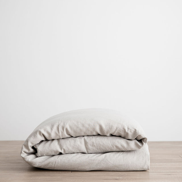 Linen Duvet Cover - Smoke Gray