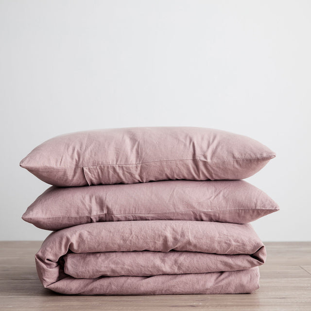 Linen Duvet Cover Set - Dusk