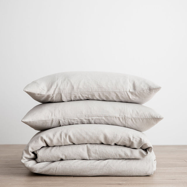 Linen Duvet Cover Set - Smoke Gray