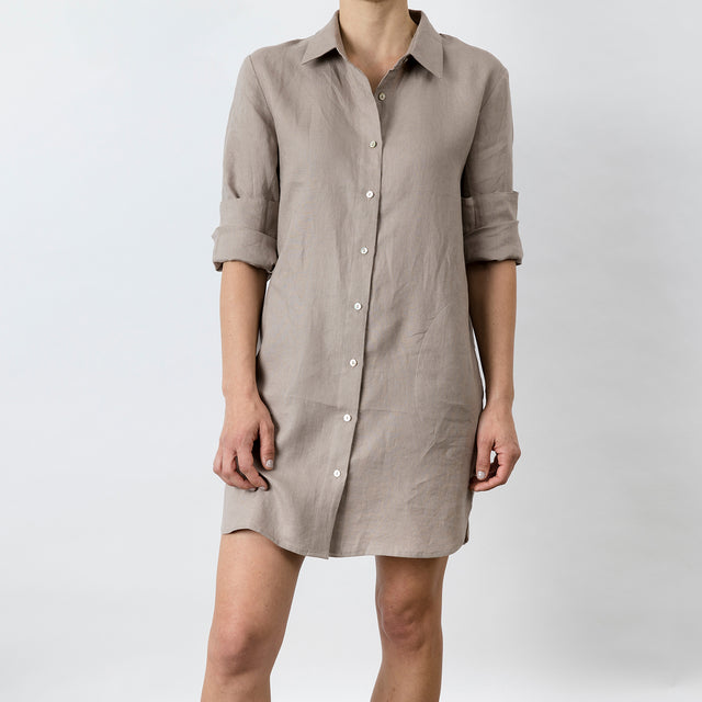 Claude Linen Shirt - Clay