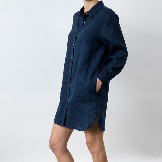 Claude Linen Shirt - Midnight