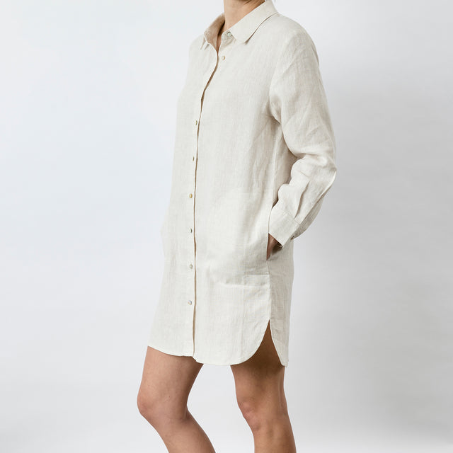 Claude Linen Shirt - Natural