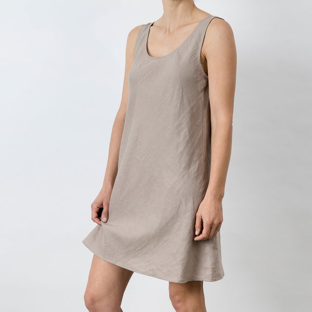 Hana Linen Dress - Clay
