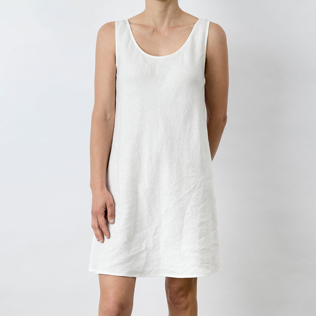Hana Linen Dress - White