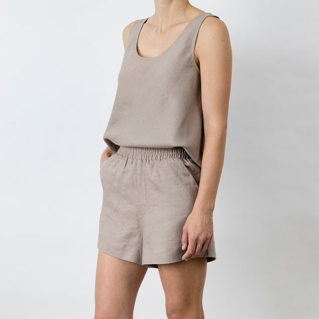 Piper Linen Short - Clay