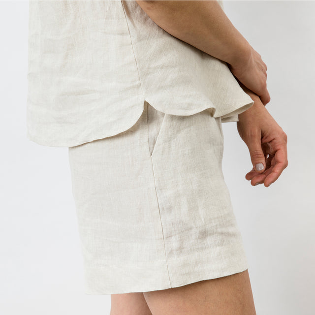 Piper Linen Short - Natural