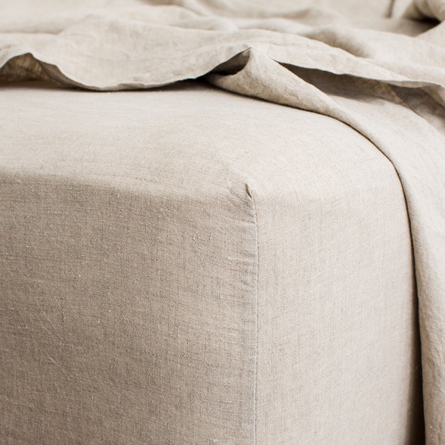 Linen Fitted Sheet - Natural