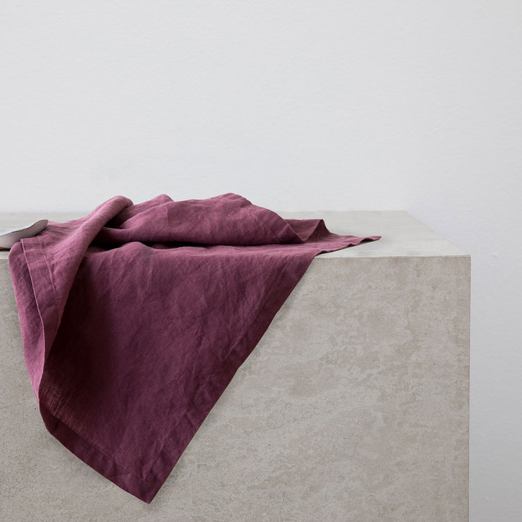 Linen Table Napkins - Plum