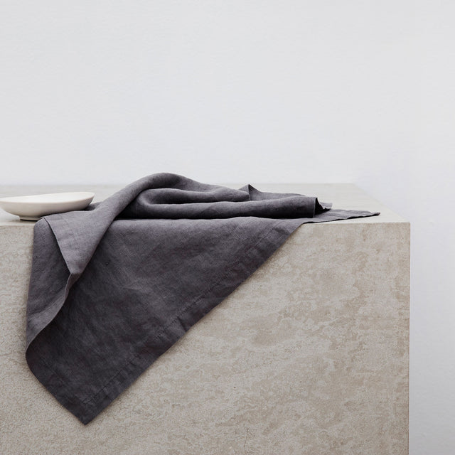 Linen Table Napkins - Charcoal Gray