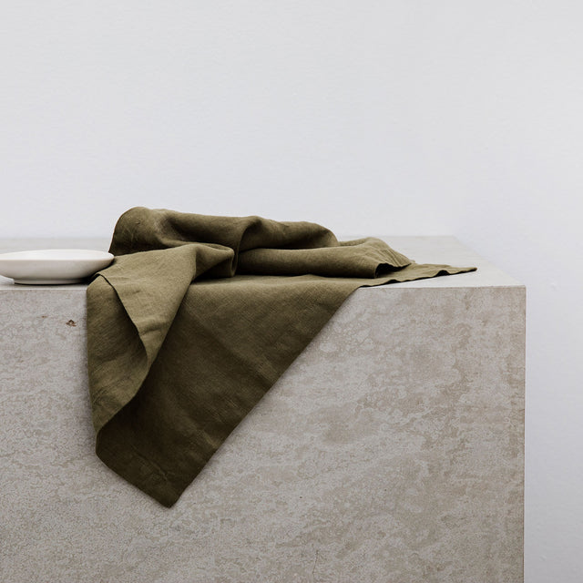 Linen Table Napkins - Olive