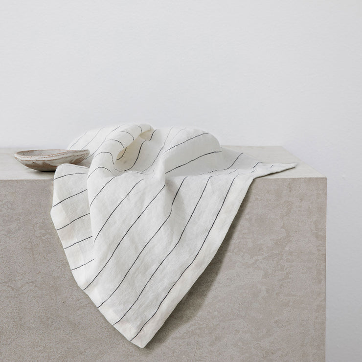 Linen Table Napkins - Pencil Stripe