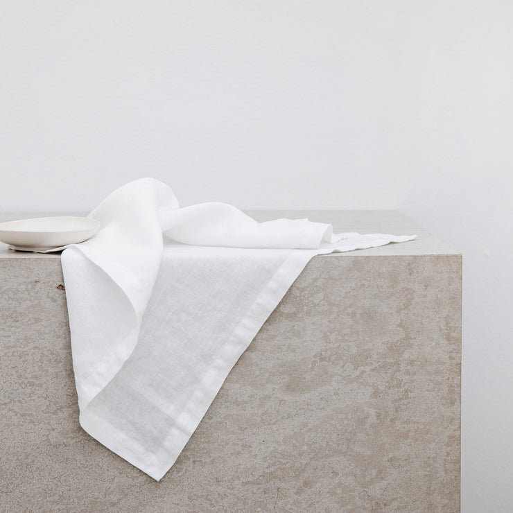 Linen Table Napkins - White