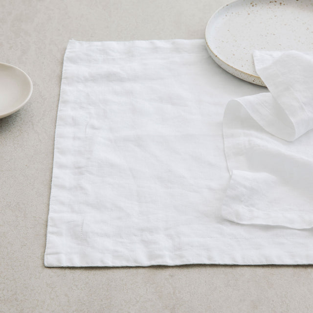 Linen Placemats - White