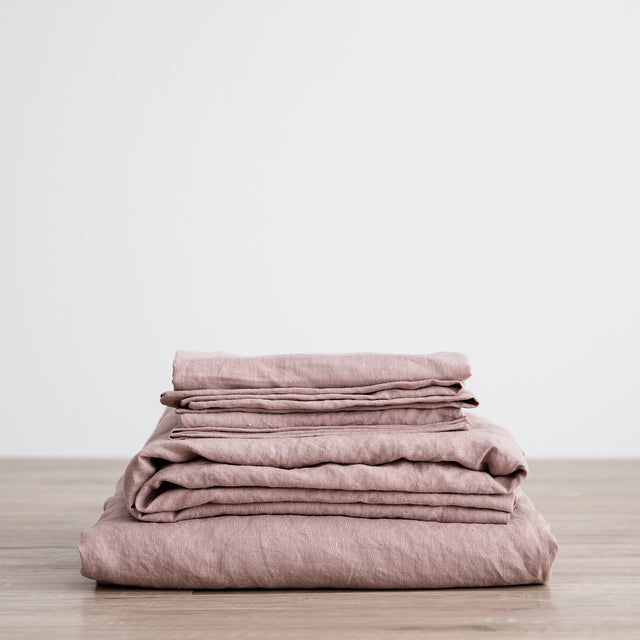 Linen Sheet Set with Pillowcases - Dusk