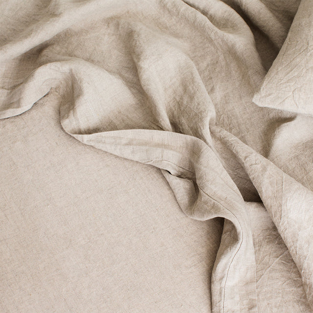Linen Sheet Set with Pillowcases - Natural