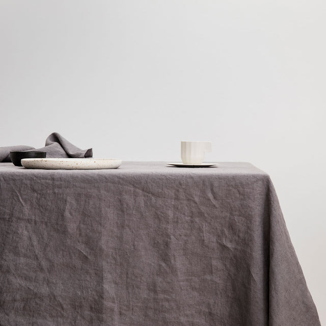 Linen Tablecloth - Charcoal Gray