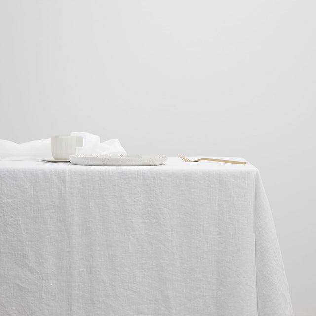 Linen Tablecloth - White