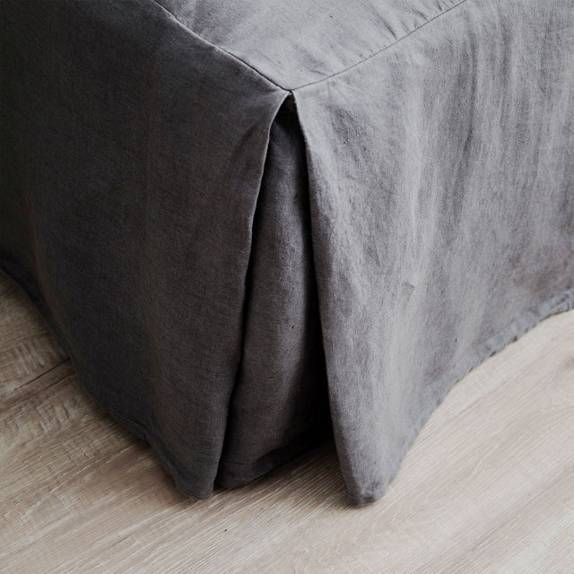 Linen Valance - Charcoal Gray