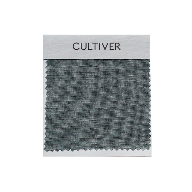 A CULTIVER Linen Swatch in Bluestone