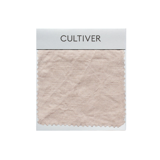 A CULTIVER Linen Swatch in Blush