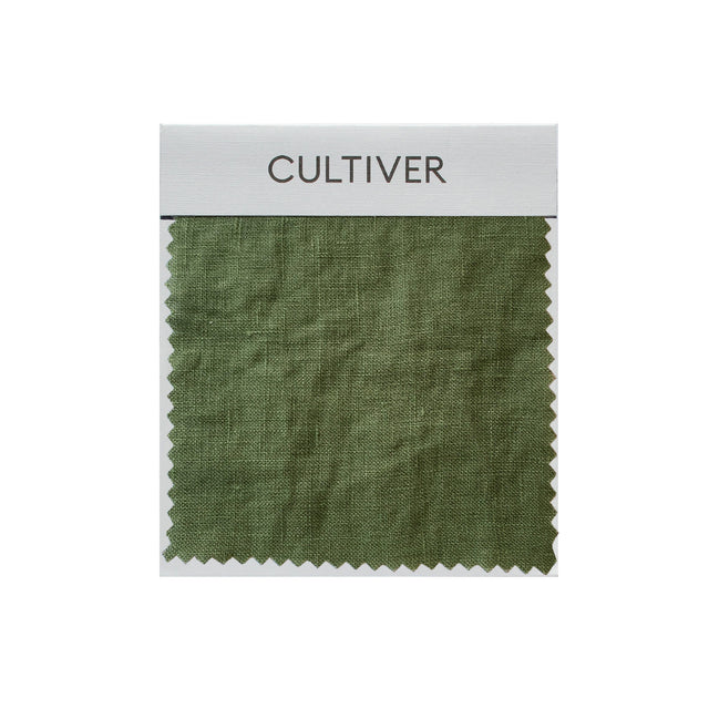 A CULTIVER Linen Swatch in Forest