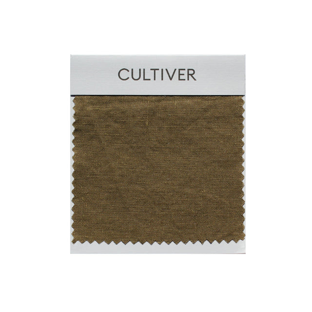 A CULTIVER Linen Swatch in Olive