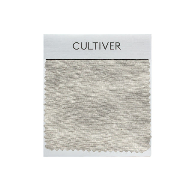 A CULTIVER Linen Swatch in Smoke Gray