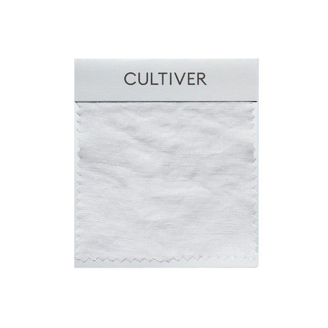 A CULTIVER Linen Swatch in White