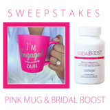 """I'm Engaged Duh"" Mug Giveaway Bridal Boost"