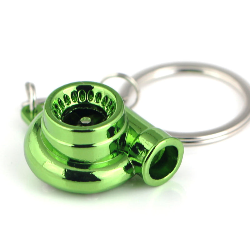 Green Metallic Turbo Keychain