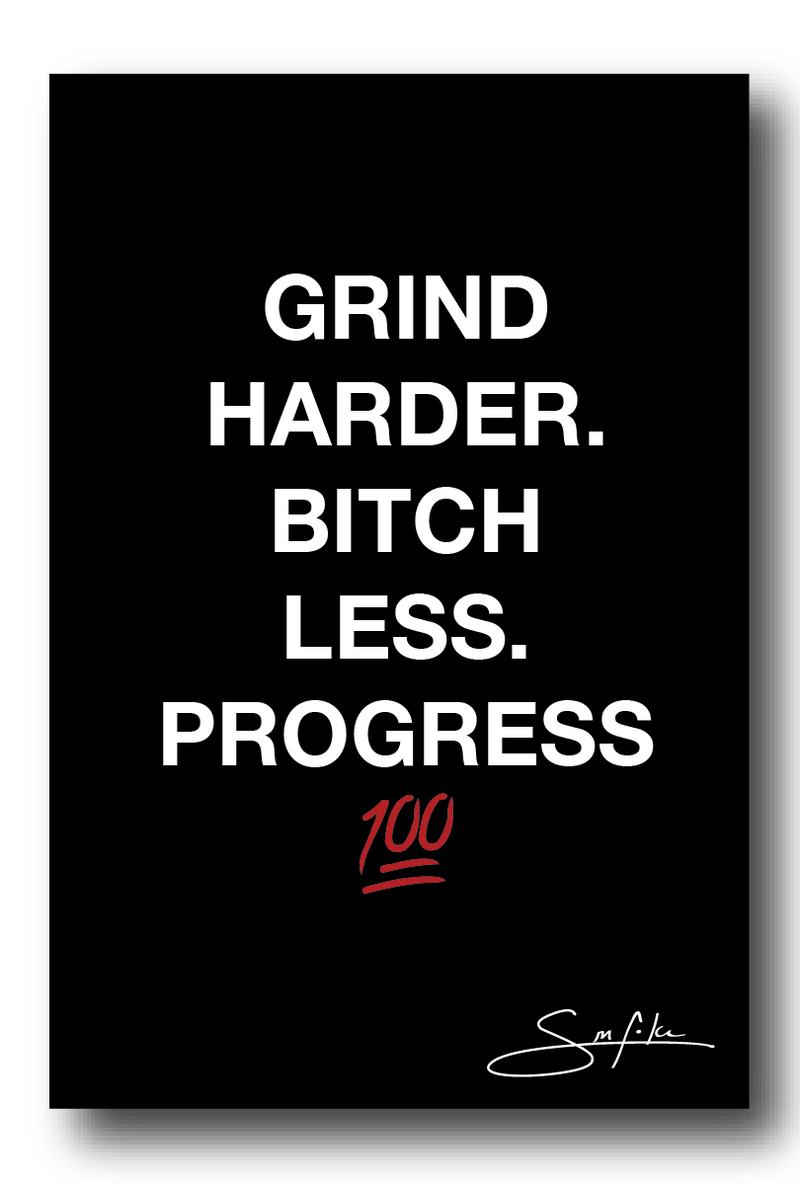 Grind Harder Sticker