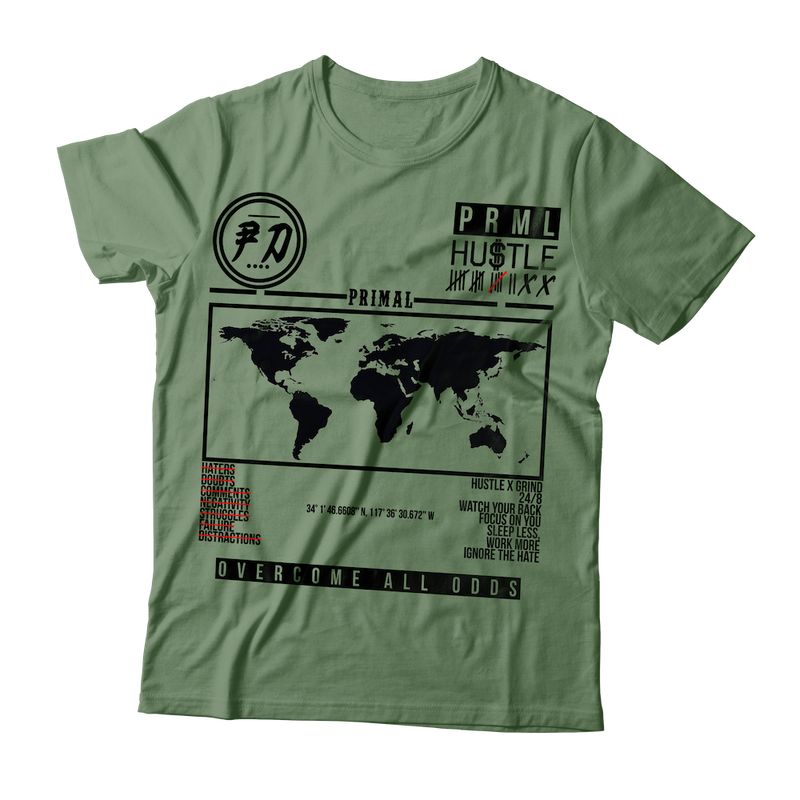 PRIMAL HUSTLE WORLDWIDE SHIRT