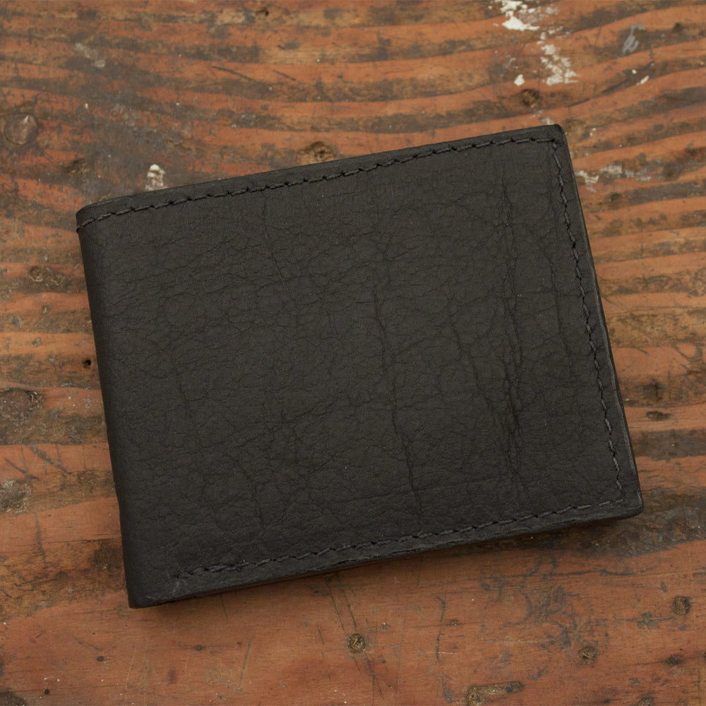 Black Bison Leather Wallet