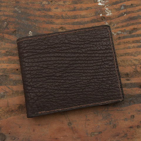 Brown Shark Skin Leather Wallet