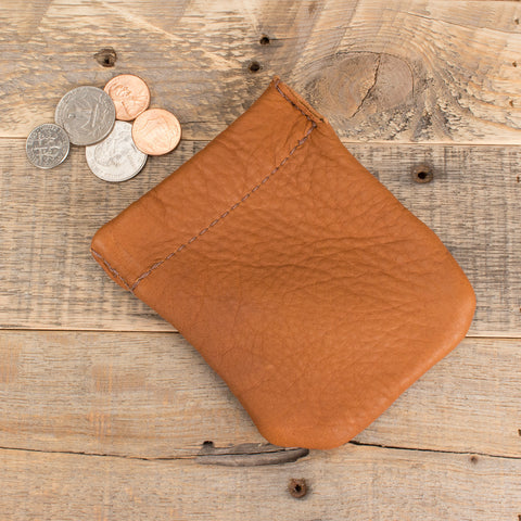 Jumbo Coin Pouch Bison Leather
