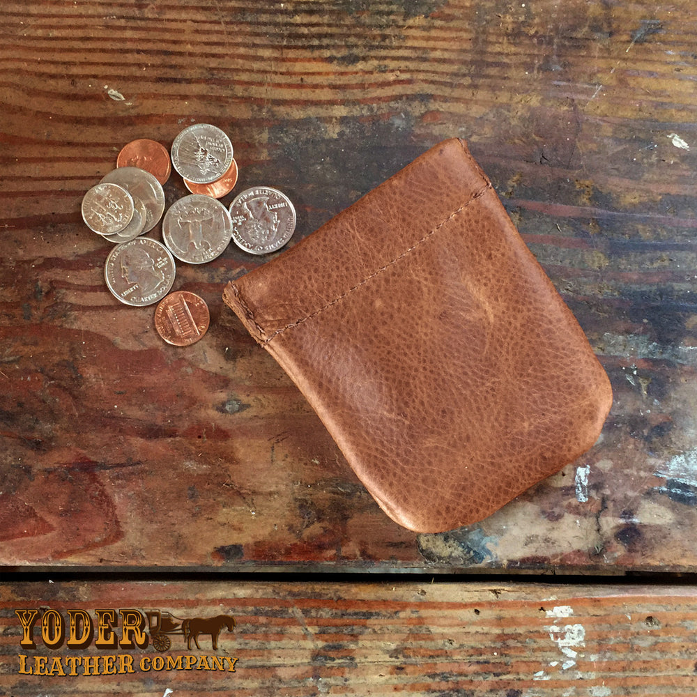 Cowhide Coin Pouch