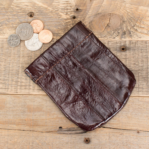 Eel skin coin pouch