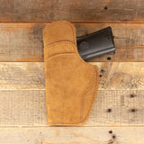 Brown Cowhide Leather Holster with Sweat Guard