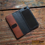 leather iPhone holder