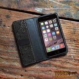 Black Ostrich Skin iPhone Case