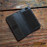 iPhone Ostrich Hide Wallet Case Black