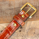 Alligator Cognac Belt