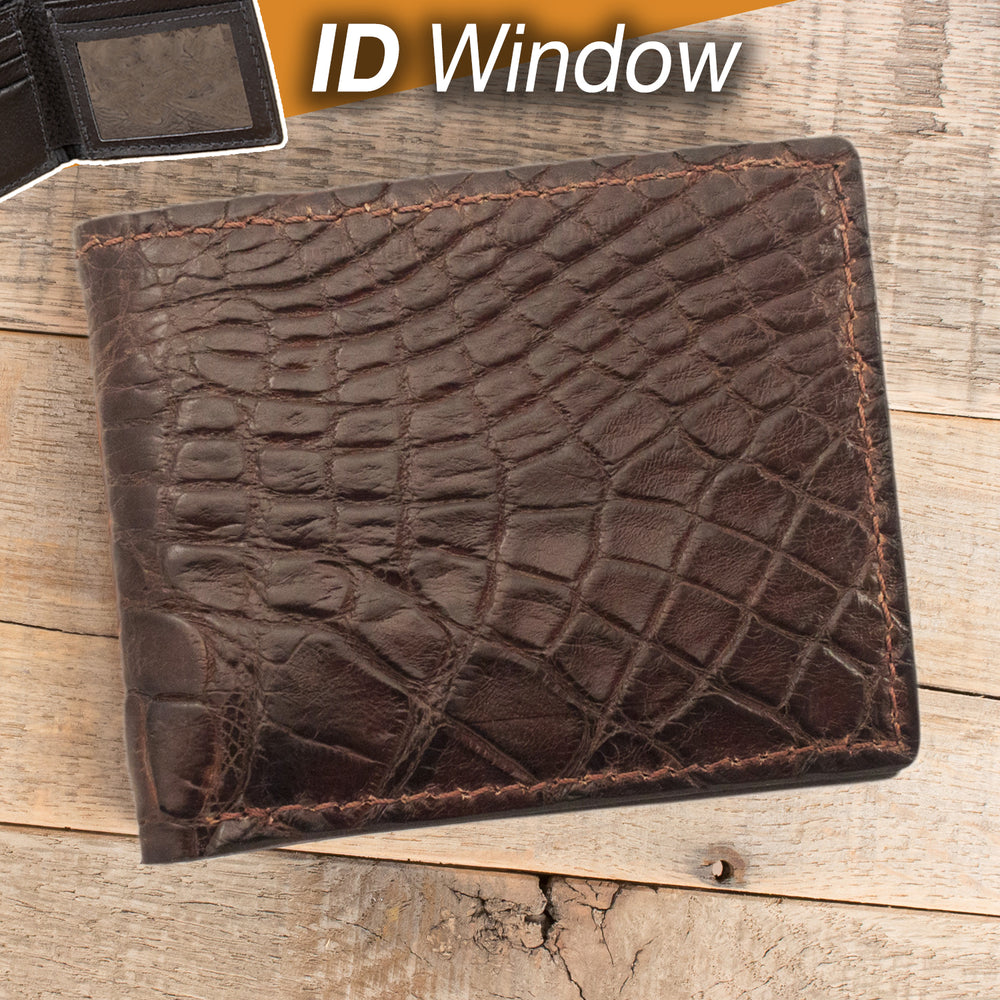 Alligator Wallet with ID Window