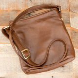 Hippo Hide Leather Brown Purse