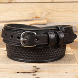 Black Basketweave Ranger Belt